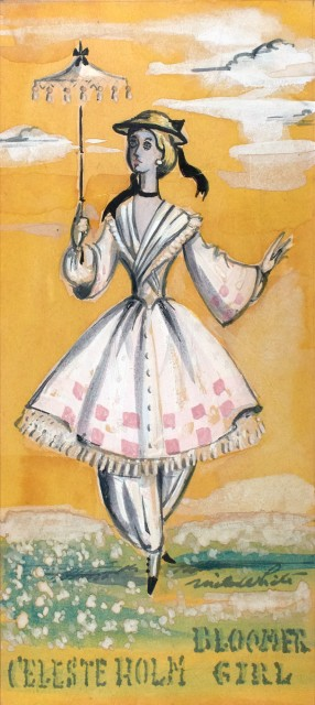 Rare original costume design for Bloomer Girl, 1944. Est. 1,000-1,500. Lot 16. Auction April 28.