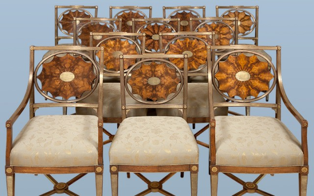Russian Neoclassical chairs
