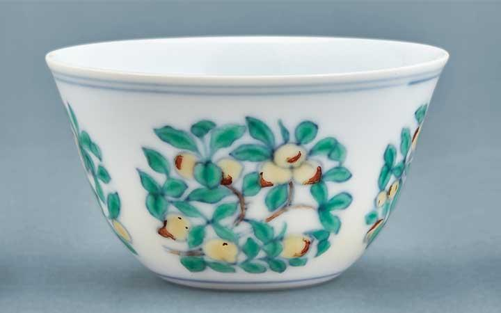 Chinese Doucai Glazed Porcelain Cup