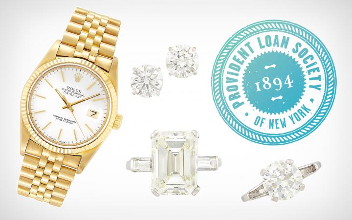 Provident Loan Society: Jewelry, Watches, Silverware & Coins
