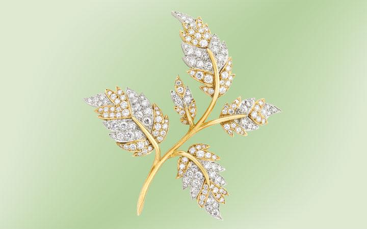 Tiffany & Co., Schlumberger Leaf Brooch