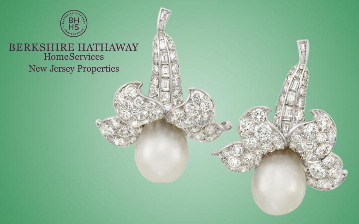 Van Cleef and Arpels Pearls and Diamond Pendant Earclips