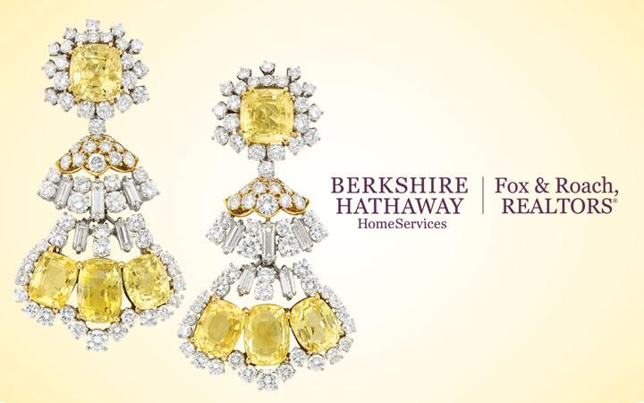 David Webb Yellow Sapphire and Diamond Pendant Earclips