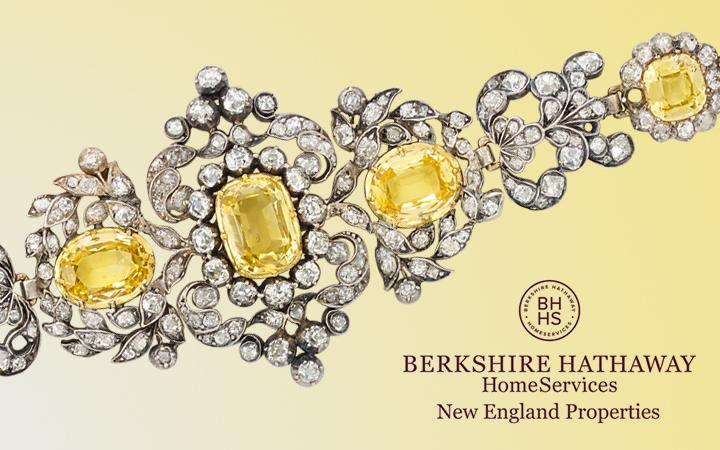 Antique Yellow Sapphire and Diamond Bracelet