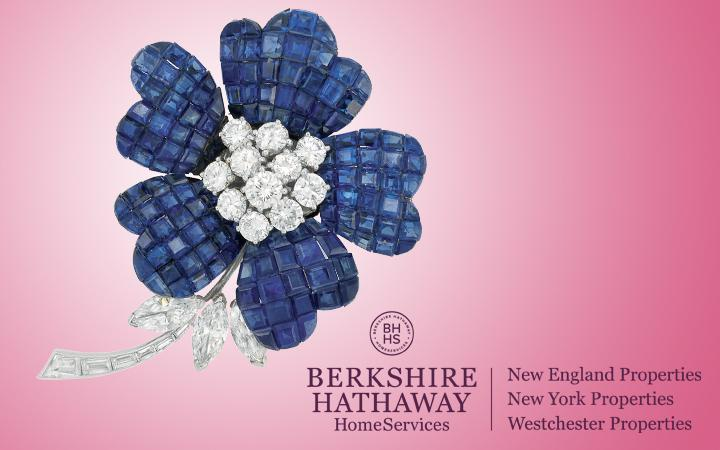 Van Cleef and Arpels Mystery Set Sapphire and Diamond Brooch