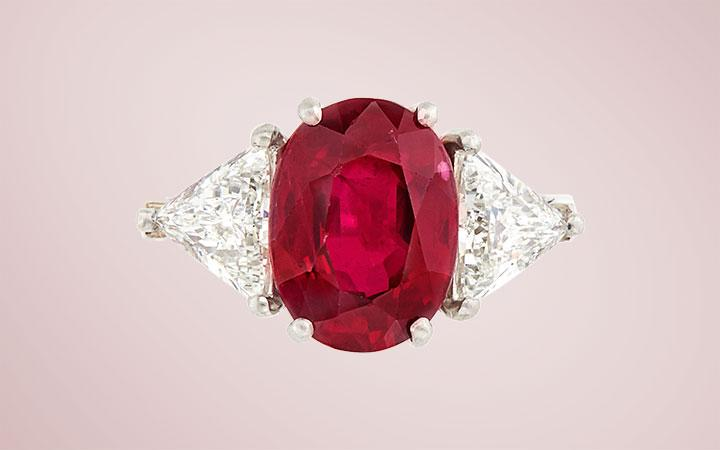 Bulgari Burma Ruby and Diamond Ring